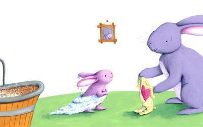 Bath for Baby Bunny
