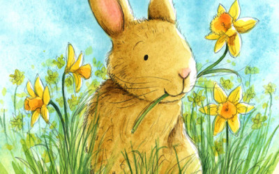 Bunny and Daffodils