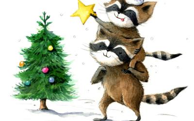 Raccoons Christmas